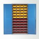 11 Shelf Bin Cabinets c/w 48 bins