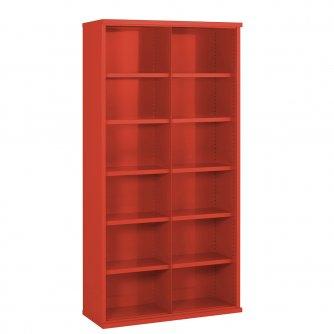 British 12 Steel Bin Cabinet 1820mmH x 460mmD
