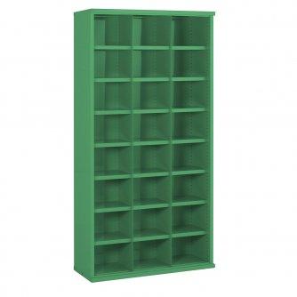 British 24 Steel Bin Cabinet 1820mmH x 355mmD