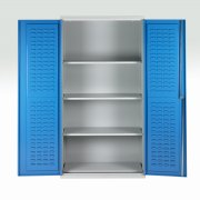 4 Shelf Double Door Bin Cabinet 2000h x 1000w x 500dmm