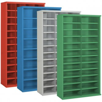 British 4 Steel Bin Cabinets 937mmH -x 305/355/460mmD