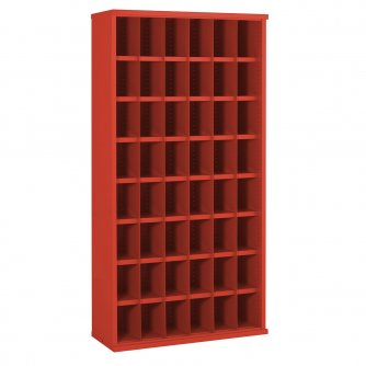British 48 Steel Bin Cabinet 1820mmH x 305mmD