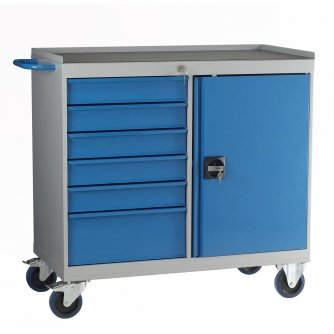 British 5 Drawer Mobile Maintenance Cabinets