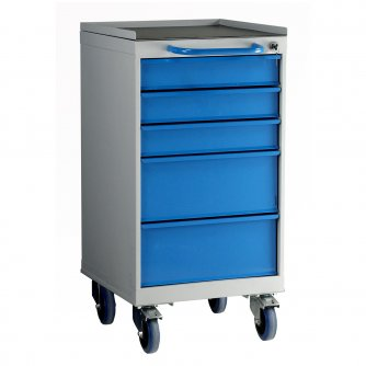 British 5 Drawer Mobile Unit 800mm High