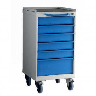 British 6 Drawer Mobile Unit 800mm High