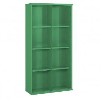 British 8 Steel Bin Cabinet 1820mmH x 305mmD