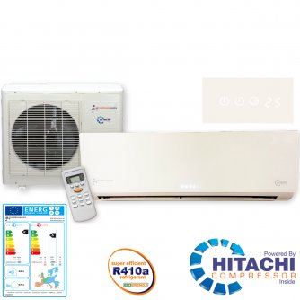 Air Conditioning Centre 24k BTU's Inverter Wall Split Air Conditioning Complete System KFR-63IW/X1C