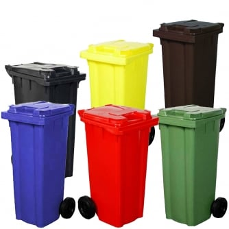 British 120 Litre Wheelie Bins in 6 Colours