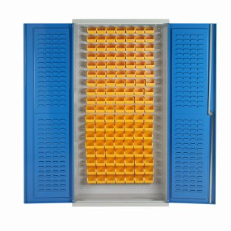 British 126 Bin Cabinets with Louvre Supports 2000h x 1000w x 500dmm