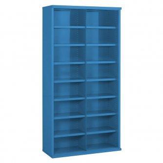 British 16 Steel Bin Storage Cabinet 1820mmH x 355mmD