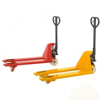British 2 Tonne Pallet Truck - 450mm Narrow Aisle choice of 4 lengths