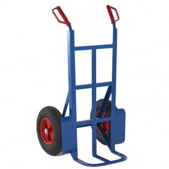 British 230mm Toe Rough Terrain Sack Truck Pneumatic Tyres capacity 350kgs