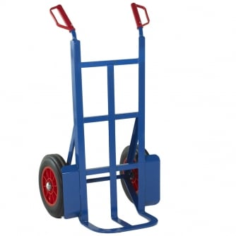 British 230mm Toe Rough Terrain Sack Truck Solid Tyres Capacity 350kgs