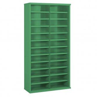 British 24 Steel Bin Cabinet with Bins 1820h x 942w x 460dmm