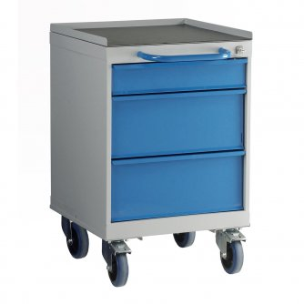 British 3 Drawer Mobile Drawer Unit 600mm High