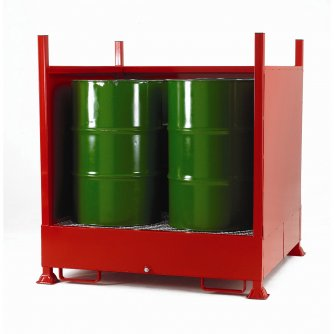 British 3 Sided Drum Sump - 4 Vertical Drums