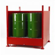 3 Sided Drum Sump - 4 Vertical Drums