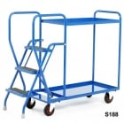 3 Step Tray Trolley Heavy Duty 2 or 3 Shelves