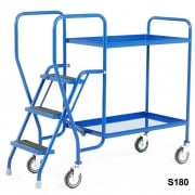 3 Step Tray Trolley Medium Duty 2 or 3 Shelves