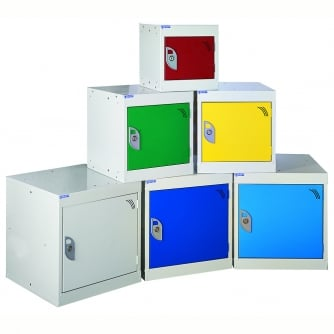 British 300mm Square Cube Lockers - choice of colours