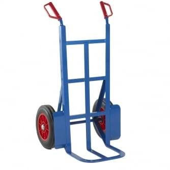 British 305mm Toe Rough Terrain Sack Truck Solid Tyres Capacity 350kgs