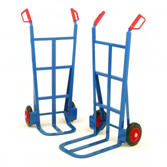 British 305mm Toe Traditional Splay Back Sack Truck Solid Tyres Capacity 200kgs