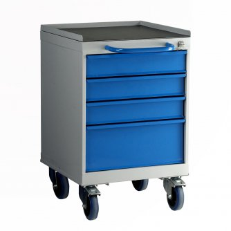 British 4 Drawer Mobile Drawer Unit 600mm High
