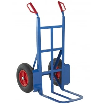 British 450mm Toe Rough Terrain Sack Truck Pneumatic Tyres Capacity 350kgs