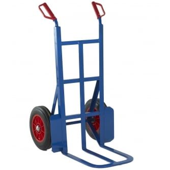 British 450mm Toe Rough Terrain Sack Truck Solid Tyres Capacity 350kgs