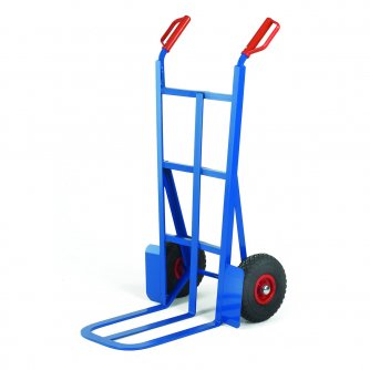 British 450mm Toe Traditional Splay Back Sack Truck Pneumatic Tyres Capacity 200kgs