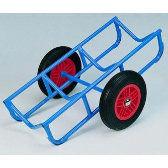 British Beam trolley with Pneumatic Tyres of Solid Wheels Capacity 350KG