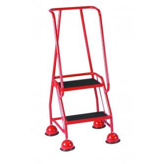 British Classic Colour 2 Tread Steps Full Handrail Anti-Slip Treads
