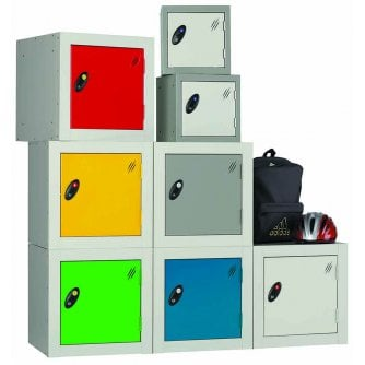 British Cube Locker 380mm Square Cubes - choice of 7 colours