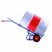 Drum truck with rear bar support - 250mm Solid Wheels