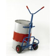 Drum Truck with rear bar support - 260mm Pneumatic Wheels