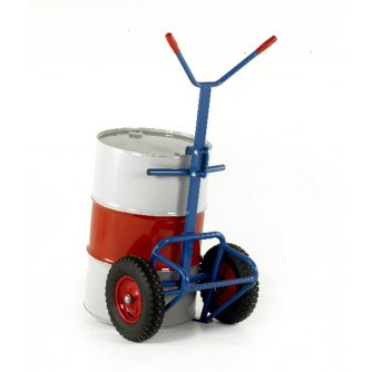 British Drum Truck with rear bar support - 400mm Pneumatic Wheels