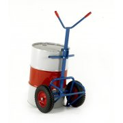 Drum Truck with rear bar support - 400mm Pneumatic Wheels