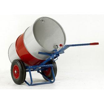 British Drum truck with rear bar support - 400mm Solid Wheels