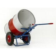 Drum truck with rear bar support - 400mm Solid Wheels