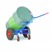 Drum truck with rear castor support - 400mm Solid Wheels
