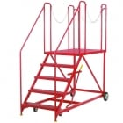 Easy Rise Steps with Truck/Dock Platform 4 to 8 Steps Galvanised or Epoxy