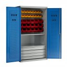 Euro Easy Order Steel Storage Cabinets 5 - 4 Drawer Panel & Bins