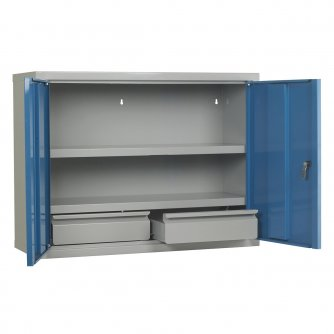 British Euro Wall Cabinets with Drawers