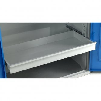 British Extra Shelves and Drawers with Runners for Steel Cabinets 1000 x 500mm