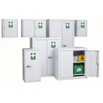 British First Aid Wall Cabinets in a choice of 3 widths