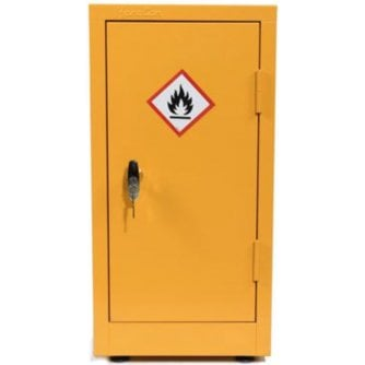 British Flammable Storage Cabinet COSHH - Yellow 700x355x305mm