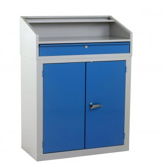 British Foreman's Desk 1270h x 915w x 485dmm Blue or Grey Doors
