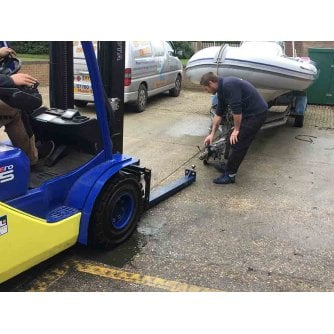 """British Forklift 50mm Tow Ball & Hitch Attachment for Trailers for up 1220mm/48"""" Forks"""