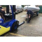 """Forklift 50mm Tow Ball & Hitch Attachment for Trailers for up 1220mm/48"""" Forks"""