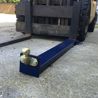 "British Forklift Tow Ball & Hitch Attachment for Trailers for up 1220mm/48"" forks"